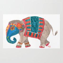 Decorated Indian elephant Rug