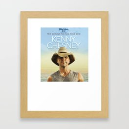 KENNY CHESNEY Framed Art Print