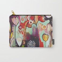 """""""Release Become"""" Original Painting by Flora Bowley Carry-All Pouch"""