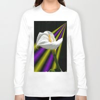 trumpet Long Sleeve T-shirts featuring Trumpet Solo by SwanniePhotoArt
