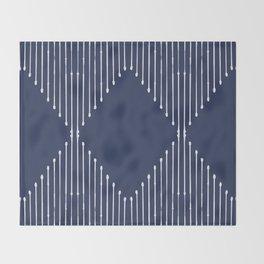 Geo / Navy Throw Blanket