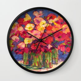 Poppy Party Wall Clock