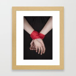 Red Ribbon Framed Art Print