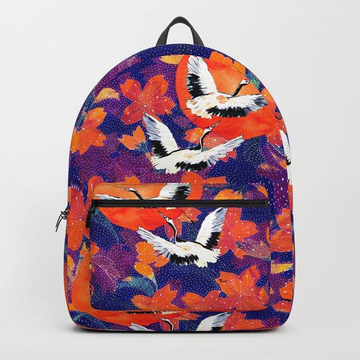 Japanese Garden: Cranes, Sun and Blossoms DK Backpack