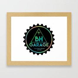 BH GARAGE OG LOGO COLOR REVERSE Framed Art Print