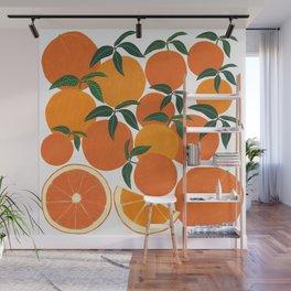 Orange Harvest - White Wall Mural
