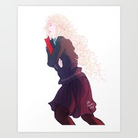 luna lovegood Art Prints featuring Luna Lovegood by mypabulousscarf
