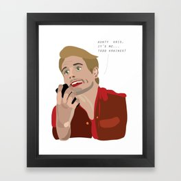 Todd Kraines (Scott Disick) Framed Art Print