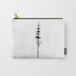Thin Tree Silhouette Carry-All Pouch