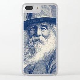Walt Whitman Engraving Clear iPhone Case