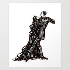 Gomez and Tish Art Print