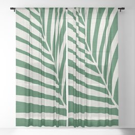 Minimalist Palm Leaf Sheer Curtain