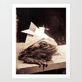 Paper Samurai, Bearded Dragon, Lizard Art Print