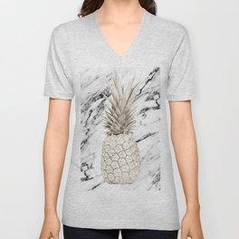 Marble Pineapple Unisex V-Neck