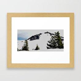 Crater Lake Watchman Overlook Framed Art Print