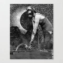 Gas Masked Canvas Print