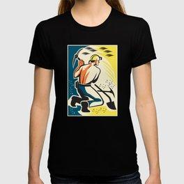 Coal Miner Mining Digging Pick Ax Retro T-shirt