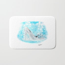 Cinderella Shoes Bath Mat