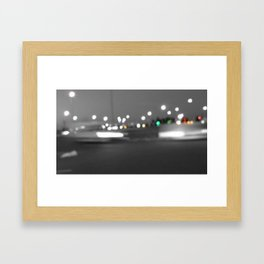 Paris abstract black and white with color Framed Art Print