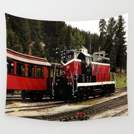 Black Hills Diesel Locmotive # 63 Abstract Wall Tapestry