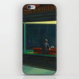 Nighthawks by Edward Hopper iPhone Skin
