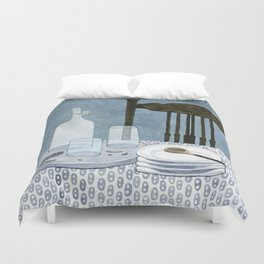 Still life with dried herbs Duvet Cover