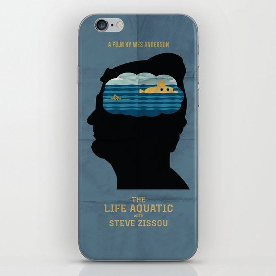 The Life Aquatic Movie Poster iPhone & iPod Skin