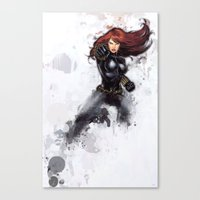 black widow Canvas Prints featuring Black Widow by Isaak_Rodriguez