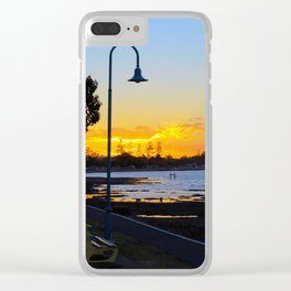 Wynnum Sunset Clear iPhone Case