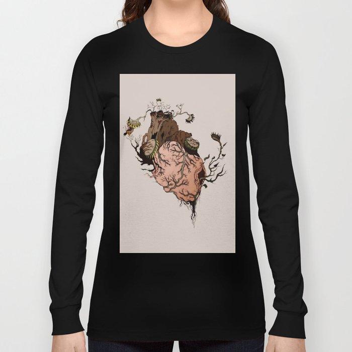 Carnivorous Plant Heart Long Sleeve T-shirt