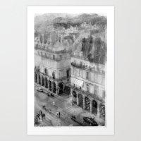 Paris in the Rain Art Print
