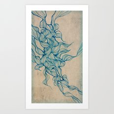Vintage abstraction/squiggles  Art Print