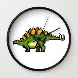 Pixel Stegosaur Wall Clock