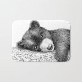 Sleepy bear Bath Mat
