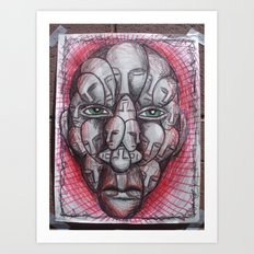 The Face of Man II  Art Print