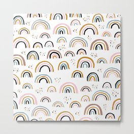 Love is love rainbow dreams Metal Print
