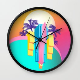 Pastel Paradise #007 Wall Clock