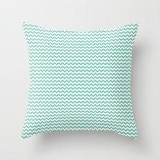 Chevron Mint Throw Pillow