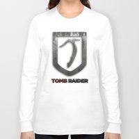 tomb raider Long Sleeve T-shirts featuring Tomb Raider by Liquidsugar