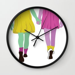 Happy Galentines Day Wall Clock