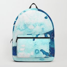 Snowflake Shoe - Turquoise Palette  Backpack