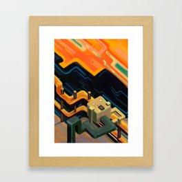 """""""The Scream"""" isometric version Framed Art Print"""