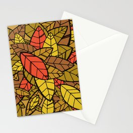 Autumn Memories (a pile of leaves) Stationery Cards