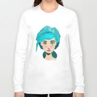 turquoise Long Sleeve T-shirts featuring Turquoise by Hingy Art