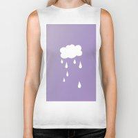 cloud Biker Tanks featuring Cloud by SueM