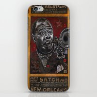 louis armstrong iPhone & iPod Skins featuring Louis Armstrong by Ray Stephenson