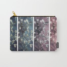 Vincent Van Gogh Almond Blossoms Panel Dark Pink Eggplant Teal Carry-All Pouch