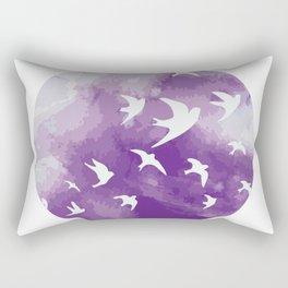 Swallows flying High this Tet Vietnam Lunar New Year Rectangular Pillow