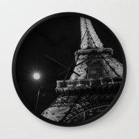 eiffel Wall Clocks featuring Eiffel by Envibe Photography