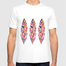 Brooklyn feathers Mens Fitted Tee White MEDIUM